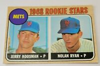 1968 Topps Nolan Ryan / Jerry Koosman Rookie Card #177 HOF