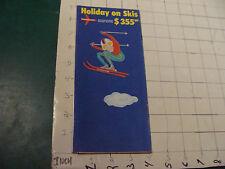 Vintage HIGH GRADE brochure: 1970 HOLIDAY ON SKIS -- SWISSAIR timetable, 20pgs