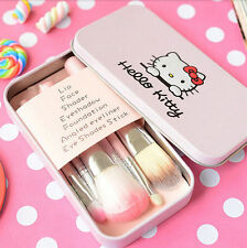 Hello Kitty 7 Pcs Mini Makeup brush Set cosmetics kit de pinceis de maquiagem