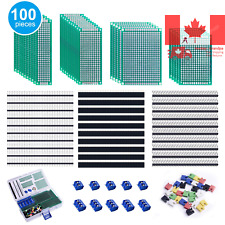100 Pcs PCB Board Kit with 30 Pcs Double Sided Prototype Boards set and 30 Pc...
