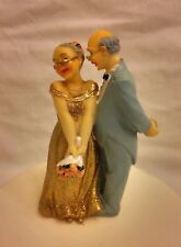 50th Golden Wedding Anniversary Bride & and Groom Couple Cake Topper