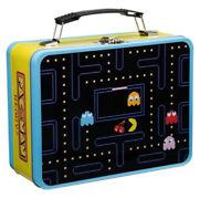 PAC-MAN Large Tin Tote Lunch Box School Pacman Pac Man Game Children