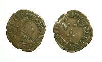 pcc1590_59) Double Tournois - Henri III - 1589  ( D - Lyon ??? ) date under head
