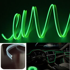4 Lead Green Car LED Ambient Light Interior Decoration Lamp Optical fiber Light