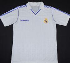 1989-1990 Real Madrid Hummel Hogar Camiseta de fútbol (tamaño L)