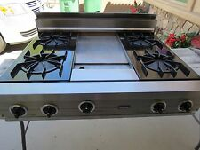 "VIKING VRT364GSS 36"" GAS RANGETOP, 4 BURNERS + GRIDDLE"