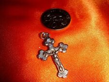 Vintage Crucifix Pendant made of Pewter, Nice Icon