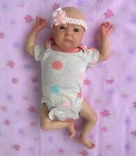 Reborn baby preemie girl Tink by Bonnie Brown with small box opening.