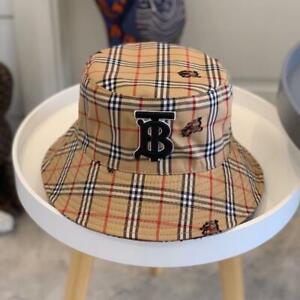 New Women's burberry Bucket Hat Cap Multicolor Size M