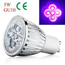5W GU10 Base UV LED Ultraviolet Purple LED Spotlight Bulb Home Lamp AC 85-265V 6