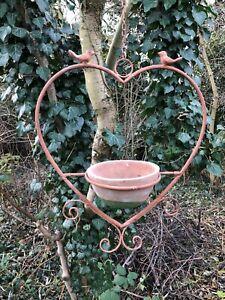 metal heart frame hanging planter garden  heart H48cm W40cm