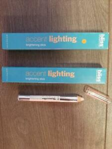 SET OF 2- Bliss Accent Lighting Brightening Stick 0.12 oz - STARLIT - NEW IN BOX