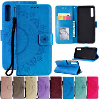For Samsung Galaxy A7 A30 A50 Magnetic Flip Stand Card Wallet Leather Cover