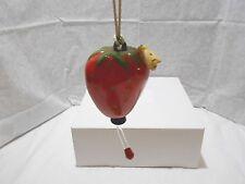 Hummingbird Feeder Hanging Ceramic Strawberry with Feeding Tube