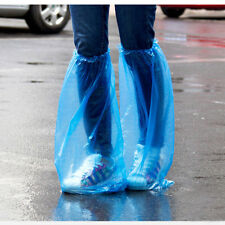 2 Pairs Disposable Thick Plastic High-Top Anti-Slip Waterproof Rain Shoe Covers