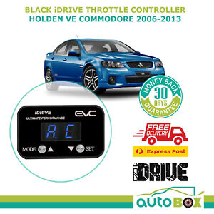 EVC BLACK iDRIVE THROTTLE CONTROLLER FOR VE HOLDEN COMMODORE 2006 - 2013