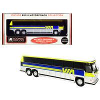 1980 MCI MC-9 Crusader II Intercity Coach Bus Via Rail (Canada) Yellow and Si...