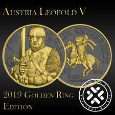 Austria 2019 Leopold V Silver 999 1oz Golden Ring Edition