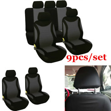 9pcs Car Seat Cover Protector Cushion Front Rear Full Set Interior Accessories