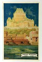 Quebec City Chateau Frontenac Canadian Pacific Railway Vintage Postcard