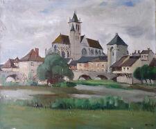 Louis Édouard TOULET (1892-1967) HsT Années 50' Village provençal Provence