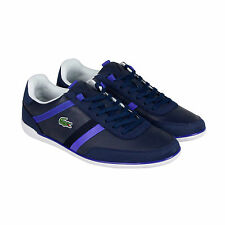Lacoste Giron 116 1 Mens Blue Leather Lace Up Sneakers Shoes 9
