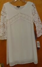 NWT Sequin ❤ hearts White Dress sz: large Promgirl