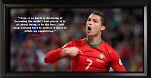 Cristiano Ronaldo Framed Photo Motivational Poster