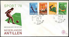 Netherlands Antilles 1978 Sports Funds FDC First Day Cover #C26674