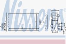 Wärmetauscher Innenraumheizung - Nissens 72941