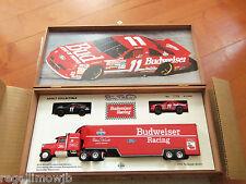 MATCHBOX Thunderbird #11 BUDWEISER TRANSPORTER WITH 2 cars wood case # set