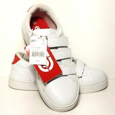 Ecko Unlimited Kids Shoes Size 4 White With Red Trim NWT