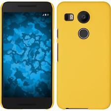 LG G Flex 2 Case Hardcover Rubberized Yellow