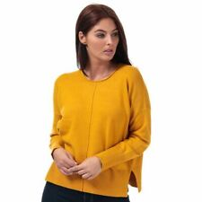 Women's French Connection Della Vhari Crew Neck Loose Fit Jumper in Yellow