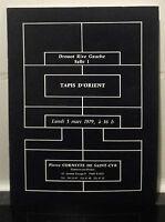 Catalogue Vendita 1979 Drouot Rive Gauche Sala N°1 Orientale Mtre P.Cornette