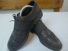 GRENSON CRAIG GREEN BLACK Men's HANDMADE BROGUES LEATHER  size 8 Goodyear welted