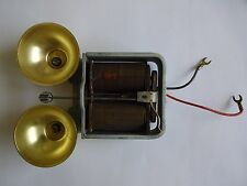 Antique Western Electric telephone 302 ringer polished bells BA1A