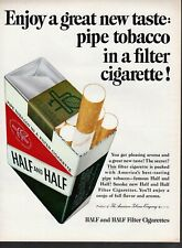 Vintage print ad Tobacco Cigarettes Half and Half Pipe Tobacco filter Enjoy 1965