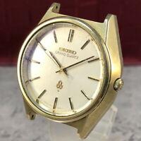Vintage 1976 SEIKO GRAND QUARTZ 4840-8041 Cap Gold Mens Watch from Japan #385