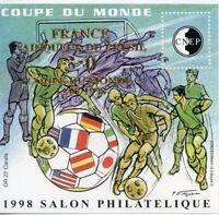 TIMBRE FRANCE BLOC FEUILLET CNEP N° 27 ** COUPE DU MONDE DE FOOTBALL 98 / OR