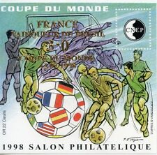 TIMBRE FRANCE BLOC FEUILLET CNEP N° 27 ** COUPE DU MONDE DE FOOTBALL 98 / OR