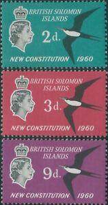 Solomon Islands 1961 SG97-99 New Constitution set MNH
