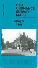 OLD ORDNANCE SURVEY MAP ALSAGER THE MERE ALSAGER HALL MILTON HOUSE 1908