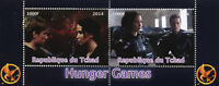 Chad 2014 MNH Hunger Games 2v M/S I Movies Film Stamps