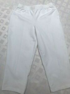 New Women with control By Renee Greenstein white cropped pants S Made in USA