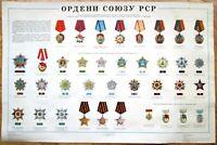Order USSR Original Poster Old Russia 1980 Communist Soviet Propaganda СССР