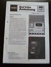 Original Service Manual Service Anleitung Grundig C 350 / C 360