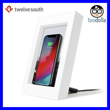 TWELVE SOUTH PowerPic - Wireless QI phone charger and picture/photo frame, White