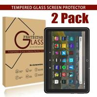 2 x Pack Tempered Glass Screen Protector For Amazon fire 7 / HD 8 / HD 10/ Kids