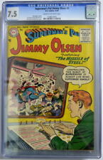 Superman's Pal JIMMY OLSEN 9 CGC 7.5 DC 1955 ONLY 3 Higher Graded